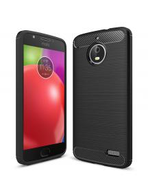 Funda TPU Carbon Motorola E4 negra
