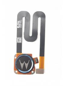 Cable flex de lector de huella digital Lenovo Moto G6 Play azul