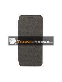 Funda libro Vennus Cotton Samsung Glaxy S9 Plus G965 negra