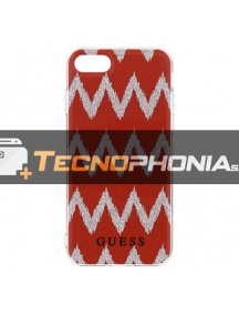 Funda TPU Guess Ethnic Chic Chevron 3D GUHCP7CGRE iPhone 7 -8 roja