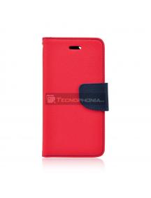 Funda libro TPU Fancy Huawei Y5 2018 - Honor 7s roja - azul