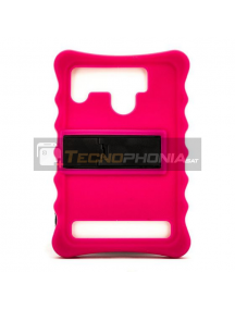 "Funda TPU universal tablet 7"" rosa con trípode"