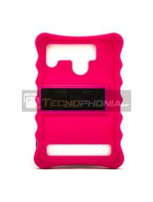 "Funda TPU universal tablet 10"" rosa con trípode"