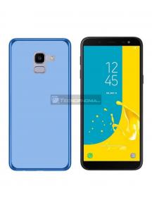 Funda TPU Samsung Galaxy J6 Plus J610 azul