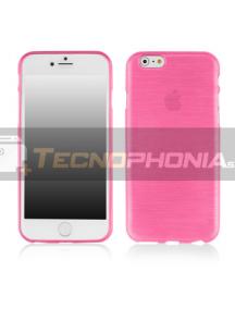 Funda TPU Metallic iPhone 6 Plus - 6S Plus rosa