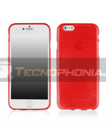 Funda TPU Metallic iPhone 6 Plus - 6S Plus roja