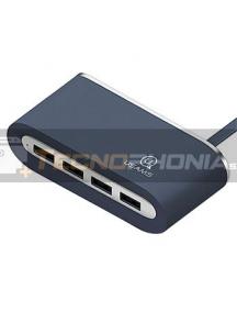 Multiplicador de puertos USB Usams US-SJ238 azul