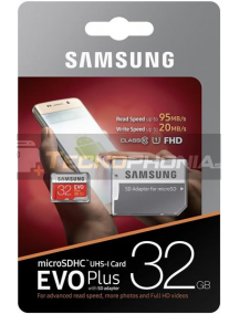 Tarjeta de memoria micro SDHC 32GB EVO Plus Samsung Class 10