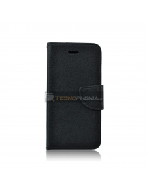 Funda libro TPU Fancy Huawei Mate 20 Lite negra
