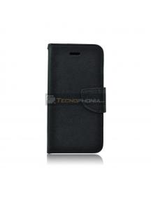 Funda libro TPU Fancy LG Q6 negra