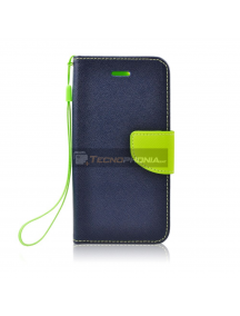 Funda Libro TPU Fancy Sony Xperia XA1 G3121 azul - lima