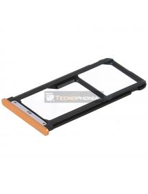 Zócalo de SIM + micro SD Nokia 7 Plus Dual Sim (TA-1043) cobre