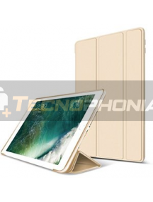 Funda libro smart case New iPad dorada