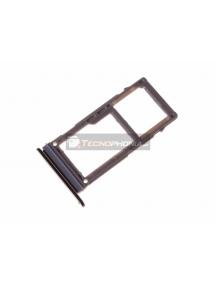 Zócalo de SIM + micro SD Samsung Galaxy A8 2018 A530 negro