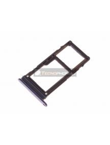 Zócalo de SIM + micro SD Samsung Galaxy A8 2018 A530 violeta