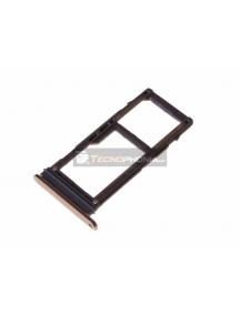 Zócalo de SIM + micro SD Samsung Galaxy A8 2018 A530 dorado