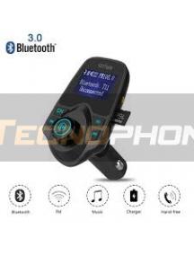 Transmisor FM T-11 con bluetooth y 2 puertos USB
