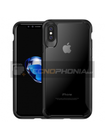Funda TPU Survival iPaky iPhone X - XS negra - transparente
