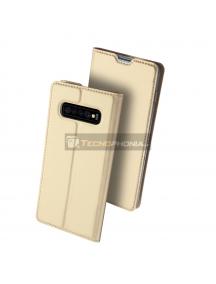 Funda libro Dux Ducis Samsung Galaxy S10 G973 dorada