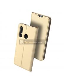 Funda libro Dux Ducis Huawei P30 Lite dorada