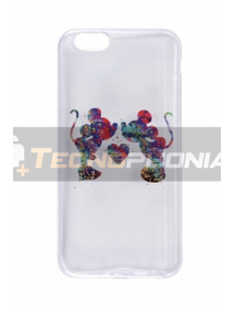 Funda TPU Mickey - Minnie Samsung Galaxy S6 G920