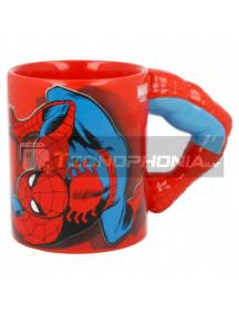 Taza cerámica 3D 330ML Spiderman brazo 8412497900633