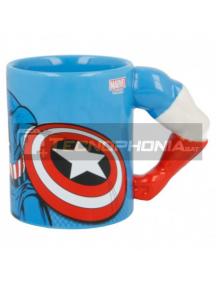 Taza cerámica 3D 330ML Capitan America brazo 8412497900657
