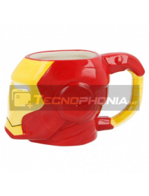 Taza cerámica 3D 420ML Ironman cabeza 8412497909872