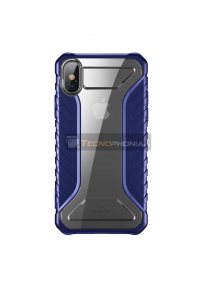 Funda Baseus Michelin iPhone X - XS azul - transparente