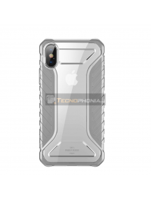 Funda Baseus Michelin iPhone X - XS gris - transparente