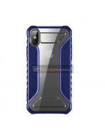 Funda Baseus Michelin iPhone XR azul - transparente