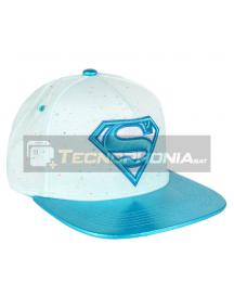 Gorra Superman DC Comics premium blanca - celeste