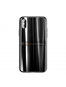 Funda Baseus Glass Sparkling iPhone X - XS negra