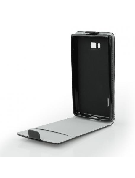 Funda solapa TPU Huawei Honot 9i negra