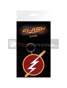 Llavero de goma DC Flash logo