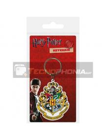 Llavero de goma Harry Potter Hogwarts Crest Carded
