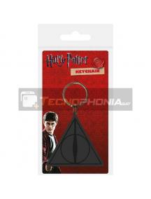 Llavero de goma Harry Potter Deathly Hallows logo