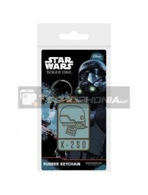 Llavero de goma Star Wars Rougue One K-2S0