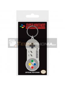Llavero de goma Nintendo mando SNES
