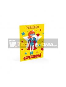 Tarjeta de felicitación Felicidades Supermama
