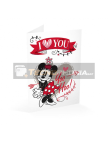 Tarjeta de felicitación Minnie - I love you