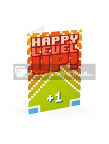 Tarjeta de felicitación Happy Level Up