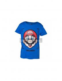 Camiseta Super Mario niño talla 110-116 azul