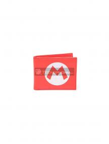 Cartera doble Nintendo - Super Mario Logo roja