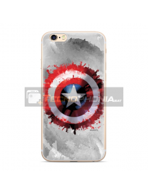 Funda TPU Marvel - Capitán América 019 iPhone X - XS