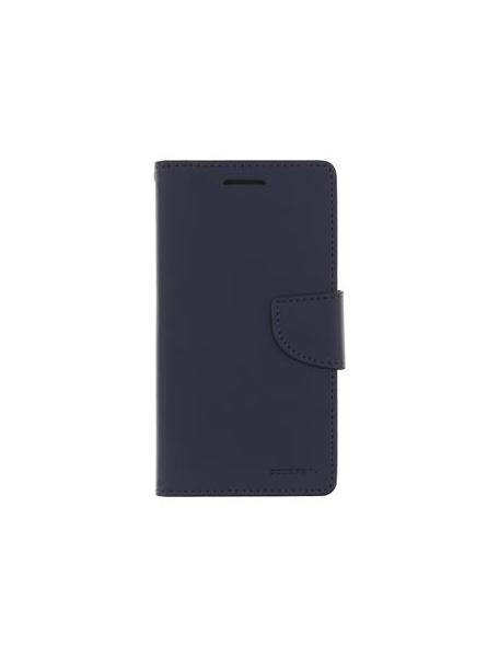 Funda libro TPU Goospery Bravo Diary Samsung Galaxy A6 A600 azul marino