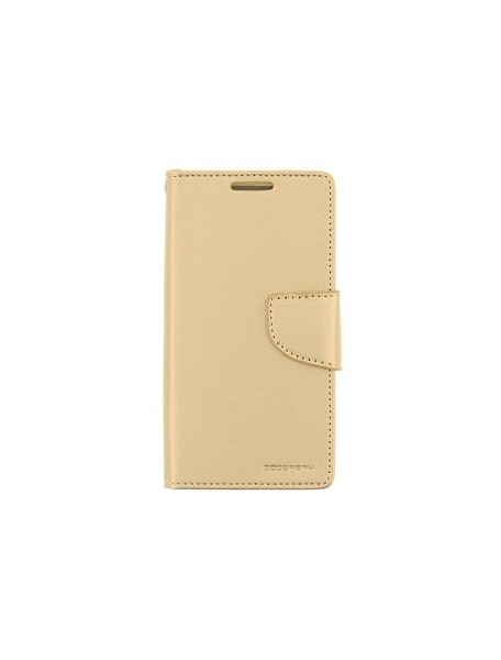 Funda libro TPU Goospery Bravo Diary Samsung Galaxy A6 Plus A605 dorada