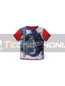 Camiseta niño Capitán América roja Talla 8