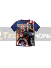 Camiseta niño Capitán América azul Talla 8