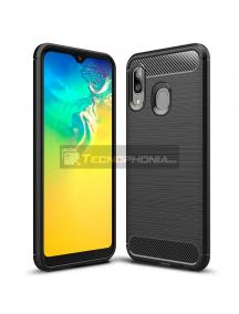 Funda TPU Carbon Samsung Galaxy A20E A202 negra